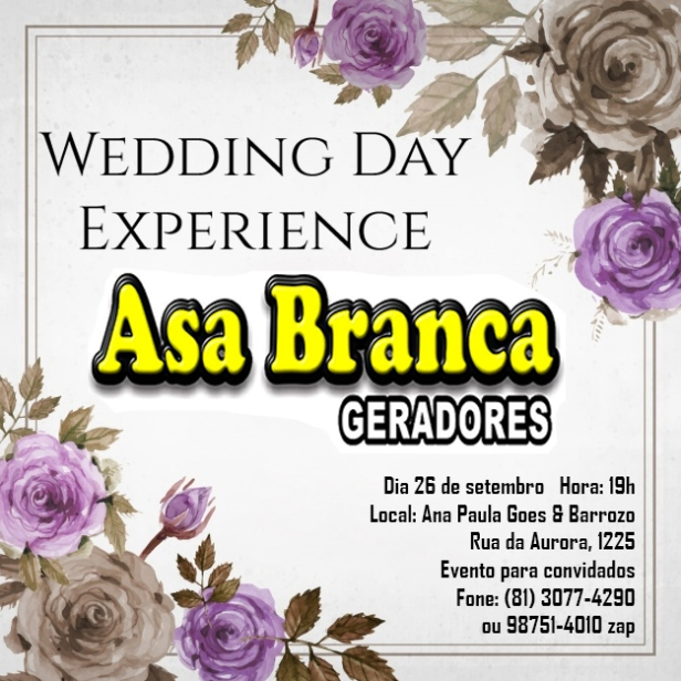 Wedding Day Experience Asa Branca
