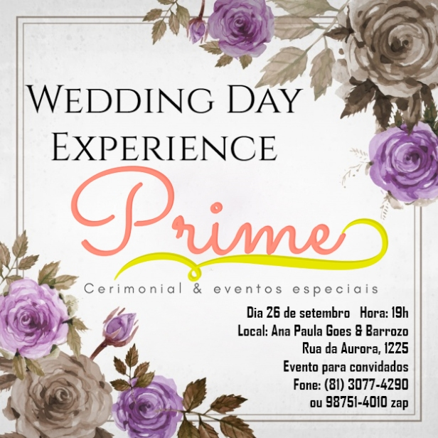 Wedding Day Experience Prime Cerimonial