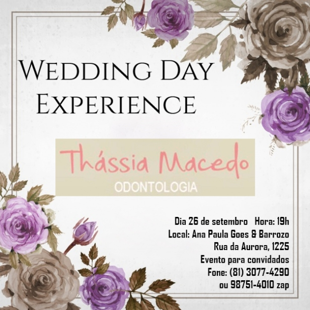 Wedding Day Experience Tassia Macedo